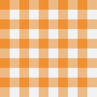 Orange gingham nahtlose muster textur aus rautenquadraten für karierte tischdecken kleidung