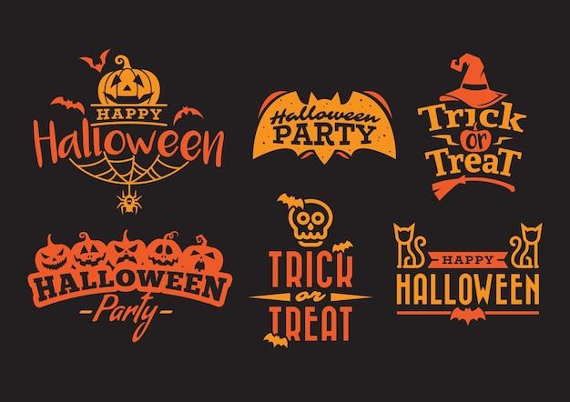 Orange halloween typografie