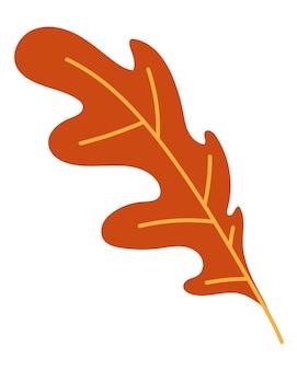 Orange herbstlaub vektor-illustration. herbst-halloween-rahmen mit blättern, grafiksymbol oder druck isoliert auf weißem hintergrund