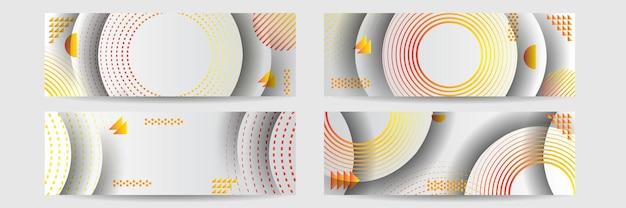 Orange hintergrunddesign-banner-vektorillustration