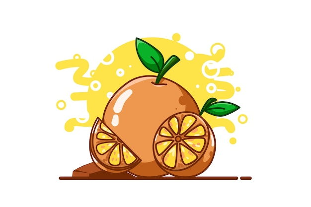 Orange illustrationshandzeichnung