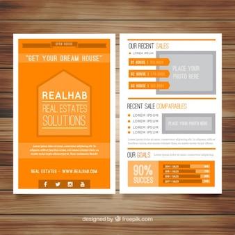 Orange immobilien-broschüre