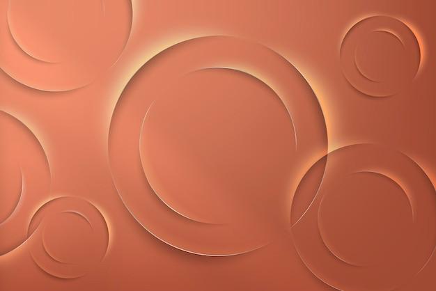 Orange kreise mit schlagschattenmusterhintergrund