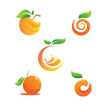 Orange logo-design vektorikonen-illustrationsdesign