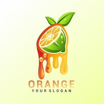 Orange logovektor, schablone, illustration