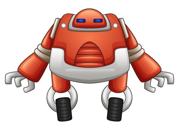 Orange metallischer roboter mit zwei rädern lokalisiert