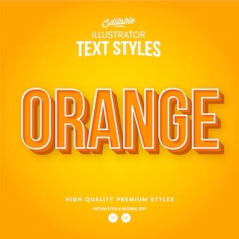 Orange moderner abstrakter texteffekt bearbeitbarer grafikstil
