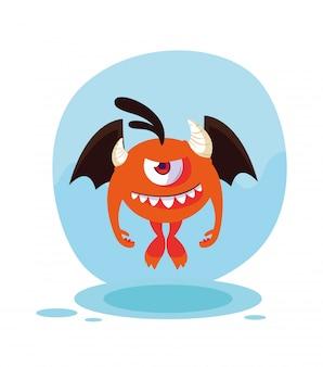 Orange monster-cartoon