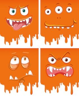 Orange monstergesicht tropft