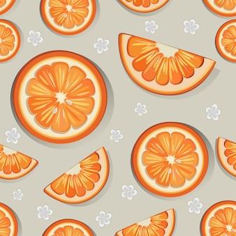 Orange nahtlose musterung