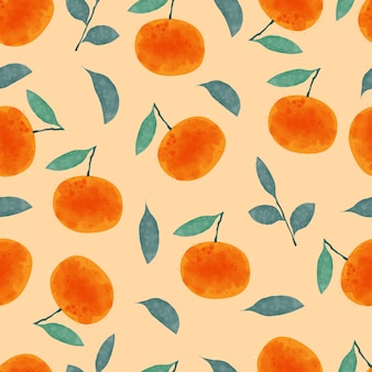 Orange nahtloses muster.
