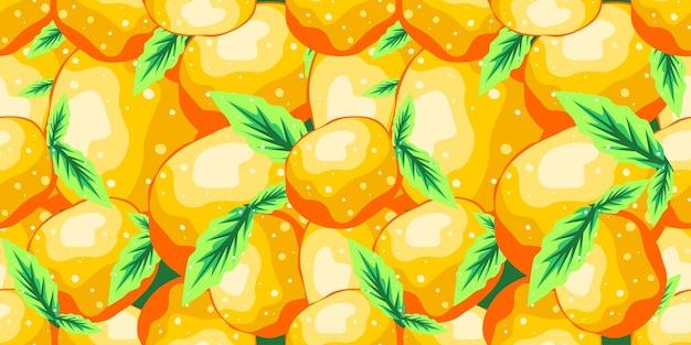 Orange nahtloses mustervektordesign