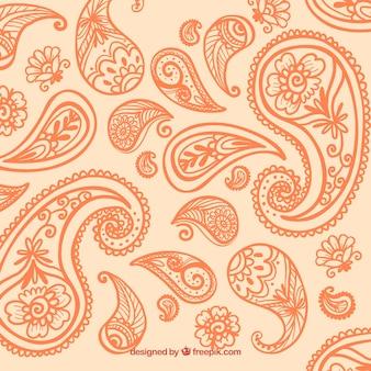 Orange paisley-hintergrund