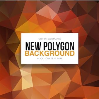 Orange polygonaler hintergrund