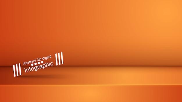 Orange purpurrotes studio der schablone, photostudio, raum