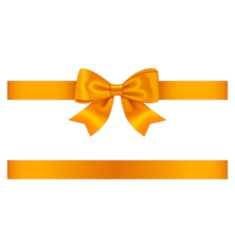 Orange schleife und band lokalisiert auf weiß