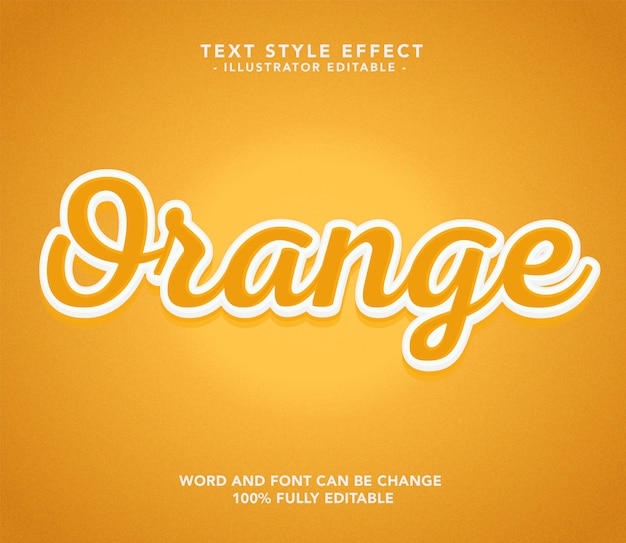 Orange schriftart