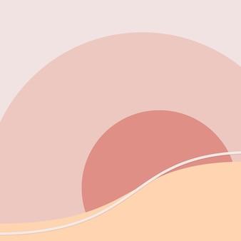 Orange sonnenuntergang strand hintergrund vektor schweizer grafikstil