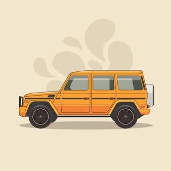 Orange sport-gebrauchsfahrzeug lokalisiert