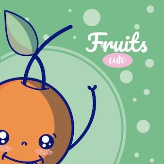 Orange süße früchte cartoons
