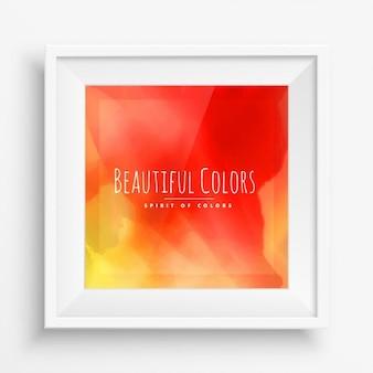 Orange tinte lackfarben hintergrund mit realistischen weißen rahmen