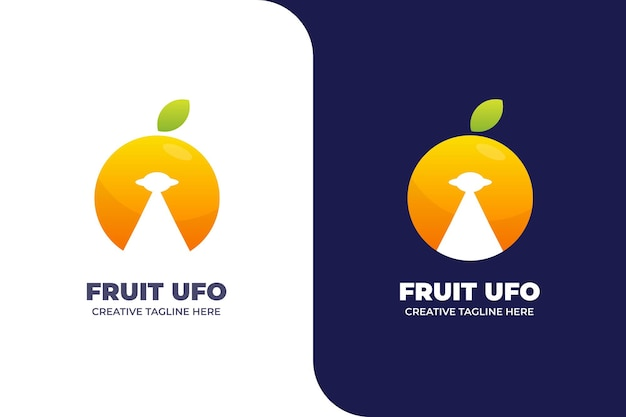 Orange ufo abstraktes buntes logo