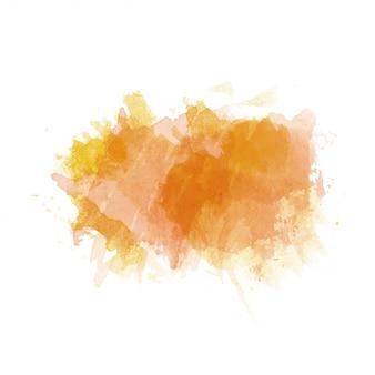 Orange und gelber aquarell malte den lokalisierten fleck