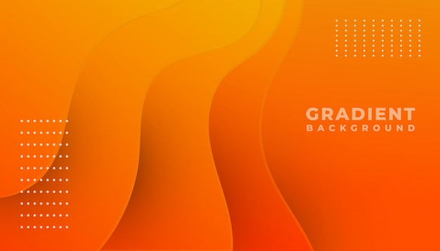Orange und gelber gradientenwellenhintergrund