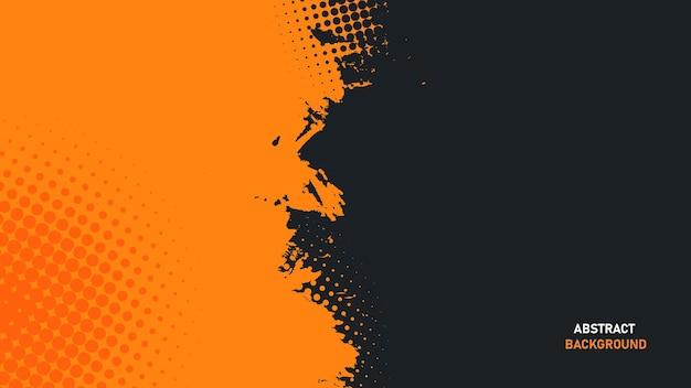 Orange und schwarzer abstrakter grunge-textur-hintergrund