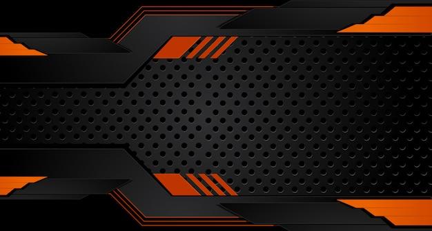 Orange und schwarzer geometrischer abstrakter unternehmenshintergrund. vektor.