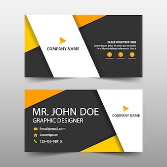 Orange unternehmens-visitenkarte vorlage