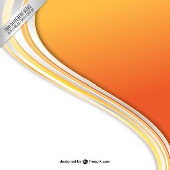 Orange welle hintergrund