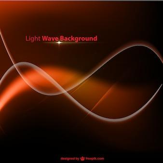 Orange wellenförmige hintergrund leuchten