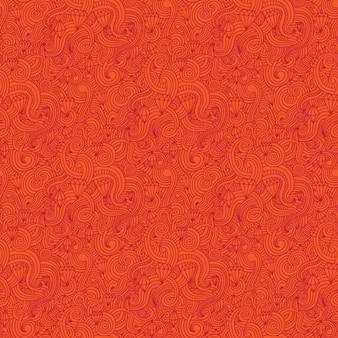 Orange wirbelt und diamons muster