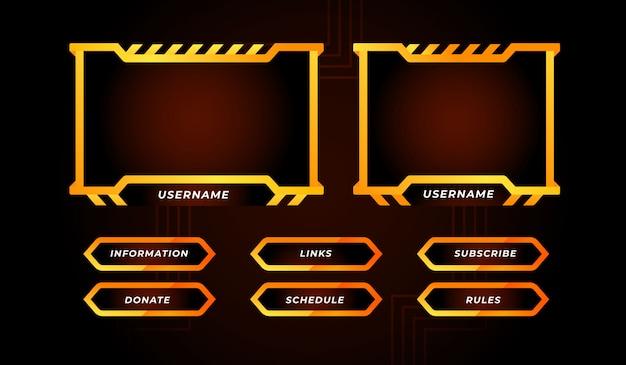 Orange zuckende panel designvorlage