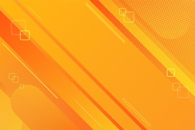 Orangefarbener abstrakter hintergrund mit dynamischer komposition