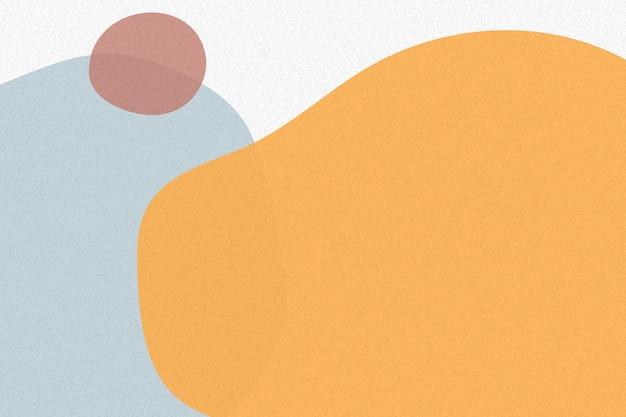 Orangefarbener einfacher memphis-hintergrundvektor