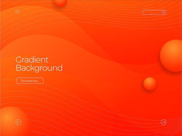 Orangefarbener hintergrund mit farbverlauf