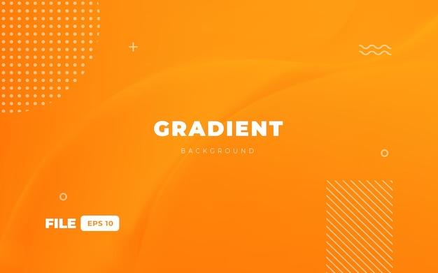Orangefarbener website-hintergrund mit farbverlauf
