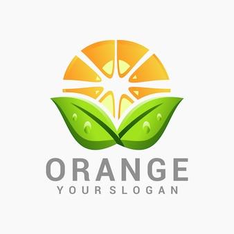 Orangefarbenes logo