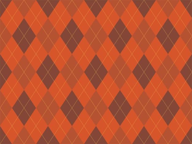 Orangefarbenes muster nahtlos. stoff textur hintergrund. klassisches argill-vektorornament.