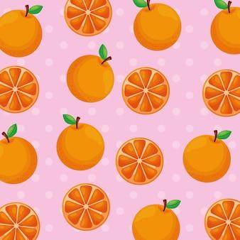 Orangefarbenes muster