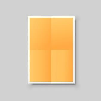 Orangefarbenes papier