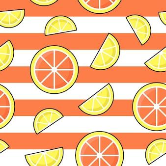 Orangen nahtloses muster