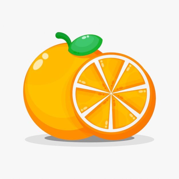 Orangen und orangenscheiben