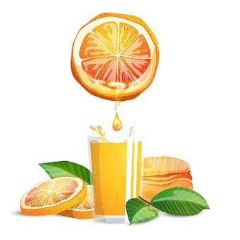 Orangen und saft