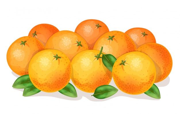 Orangen.