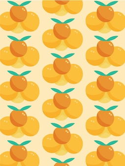 Orangenfruchtmuster
