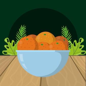 Orangenkarikatur der frischen früchte