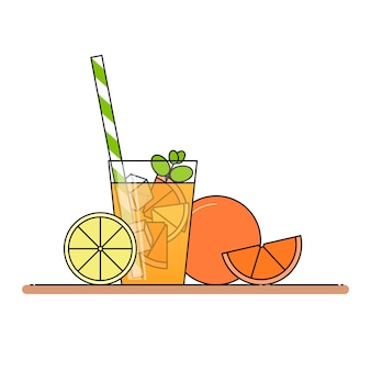 Orangenlimonade mit fruchtscheiben